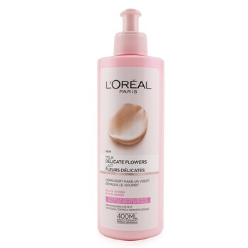 LOreal Delicate Flowers Cleansing Milk (For Dry & Sensitive Skin)