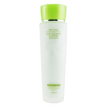 3W Clinic Aloe Full Water Activating Emulsion - For Dry to Normal Skin Types (Box Slightly Damaged)
