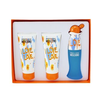 Moschino I Love Love Coffret: Eau De Toilette Spray 50ml + Perfumed Body Lotion 100ml3.4oz + Perfumed Bath & Shower Gel 100ml