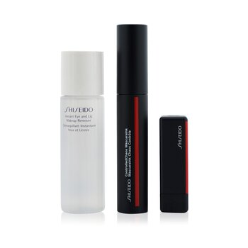 Shiseido Controlled Chaos MascaraInk Set (1x Controlled Chaos MascaraInk, 1x Modern Matte Powder Lipstick, 1x Instant Eye And Lip  Makeup Remover)