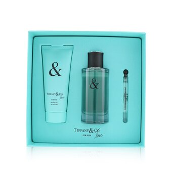 Tiffany & Co. Tiffany & Love For Him Coffret: Eau De Toilette Spray 90ml + Shower Gel 100ml + Eau De Toilette 4ml