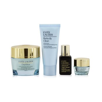 Estee Lauder Protect+Hydrate Collection: DayWear Moisture Creme SPF 15 50ml+ ANR Multi Recovery 15ml+ DayWear Eye 5ml+ Perfectly Clean 30ml