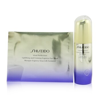 Shiseido Vital Perfection Uplifting & Firming Eye Set: Eye Cream 15ml + Eye Mask 12pairs