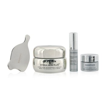 Darphin Stimulskin Plus Meraviglie Botaniche Set: Renewal Rich Cream 50ml+ Reshaping Divine Serum 4ml+ Eye Cream 5ml+ Massage Applicator