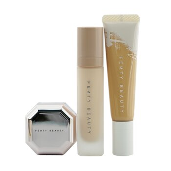 Fenty Beauty by Rihanna Pro FiltR Hydrating Complexion Kit: Foundation 32ml + Primer 32ml + Instant Retouch Setting Powder 7.8g - #190 (Box Slightly Damaged)