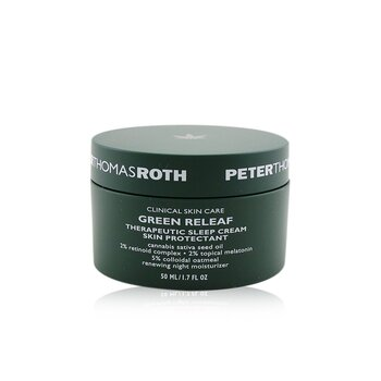 Peter Thomas Roth Green Releaf Therapeutic Sleep Cream Skin Protectant - Renewing Night Moisturizer (Exp. Date: 07/2021)