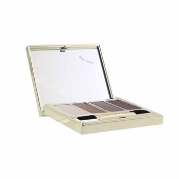 Clarins 4 Colour Eyeshadow Palette (Smoothing & Long Lasting) - #02 Rosewood (Box Slightly Damaged)