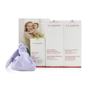 A Beautiful Pregnancy Set: Stretch Mark Minimizer 200ml+ Exfoliating Body Scrub 200ml+ Body Treatment Oil-Tonic 100ml