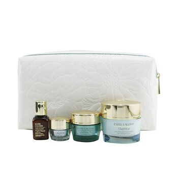 Estee Lauder All Day Hydration Set: DayWear Creme 50ml+ NightWear Creme 15ml +Advanced Night Repair 15ml+ DayWear Eye 5ml+ Bag