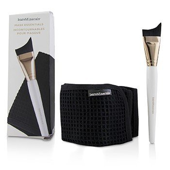 BareMinerals Mask Essentials - Smoothing Brush And Removal Cloth (Box Slightly Damaged)