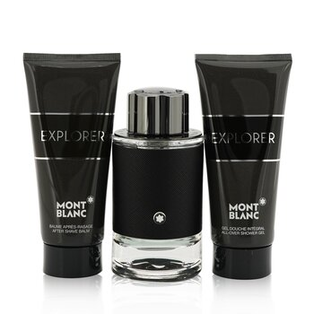 Montblanc Explorer Coffret : Eau De Perfum Spray 100ml + After Shave Balm 100ml + Shower Gel 100ml