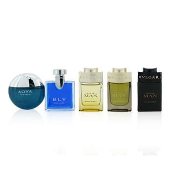 Bvlgari The Mens Gift Collection: Man In Black EDP, Man Wood Essence EDP, Man Wood Neroli EDP, Aqva EDT, Blv EDT