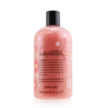 Philosophy Sparkling Hollyberries Shampoo, Shower Gel & Bubble Bath