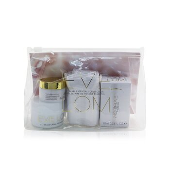 Eve Lom Travel Essentials Collection: Cleanser 20ml+ Moisture Cream 8ml+ Time Retreat Radiance Essence 10ml+ Cloth